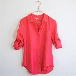 Broadway & Broome Madewell S Silk Button Down top